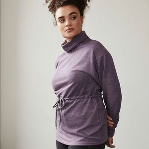 Hyba | Funnel Neck Sweater with Drawstring
